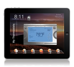 Thermostat like controls on your iPad to automate AC