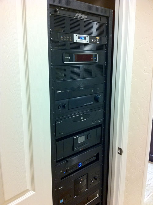 Custom Home Automation Rack Throughout Entire House